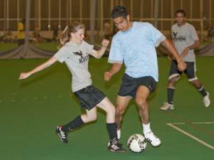 Adult indoor soccer